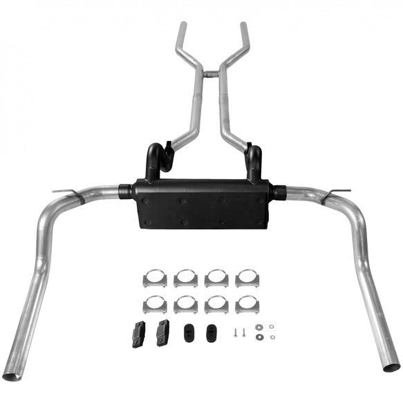 17104 - Header-back System - Dual Rear Exit - American Thunder - Moderate Sound - additional Image