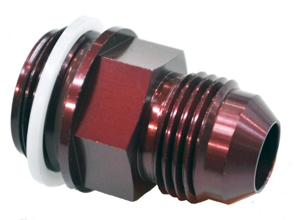 19-18QFT - 7/8-20 #8 A/N Fuel Inlet Fitting Red Image
