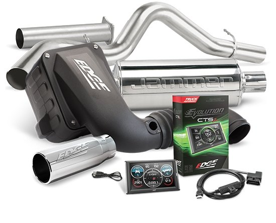 19121-D - Edge Stage 2 Performance Kit - EVOLUTION CTS2/Jammer CAI/Jammer Exhaust w/o Catalytic Converter Image