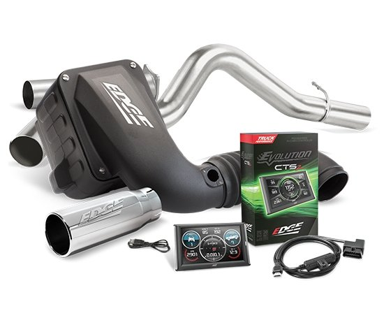 19130-D - Edge Stage 2 Performance Kit - Evolution CTS2/Jammer CAI/Jammer Exhaust w/ Chrome Tip Image