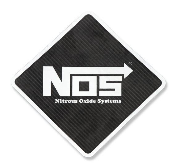 19216NOS - NOS Diamond Shaped Carbon Fiber Decal Image