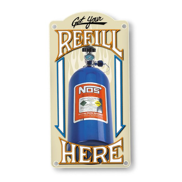 19326NOS - NOS Refill Metal Sign Image