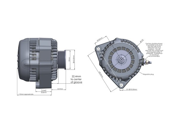 197-302 - Holley Premium Alternator - additional Image