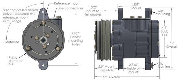 199-102 - SD7 A/C Compressor - additional Image