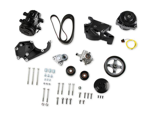 20-138BK - LS/LT Complete Accessory Drive Kit- Black Finish Image