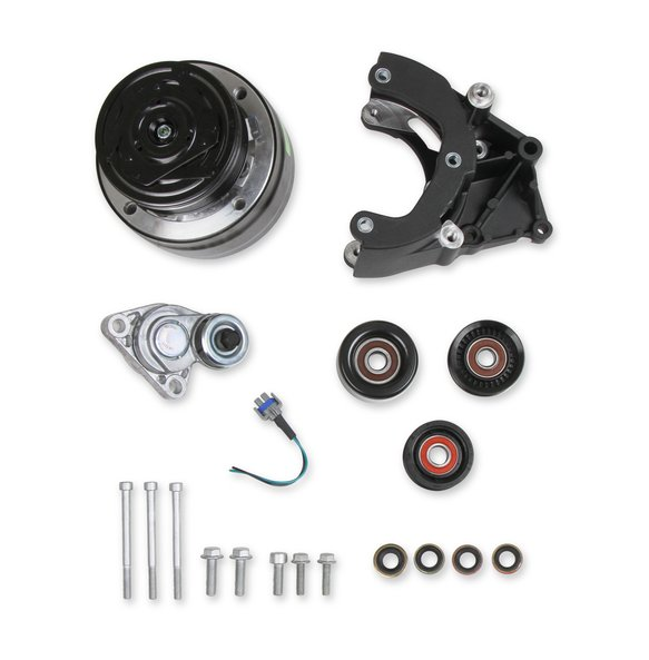 20-140BK - LS A/C Accessory Drive Kit - Includes R4 A/C Compressor, Tensioner, & Pulleys- Black Finish Image