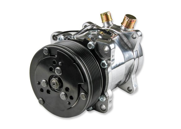 20-141P - LS A/C Accessory Drive Kit - Includes SD508 A/C Compressor, Tensioner, & Pulleys- Polished Finish - additional Image