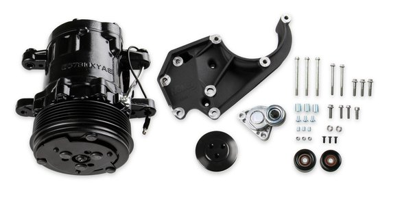 20-142BK - LS A/C Accessory Drive Kit - Includes SD7 A/C Compressor, Tensioner, & Pulleys- Black Finish Image