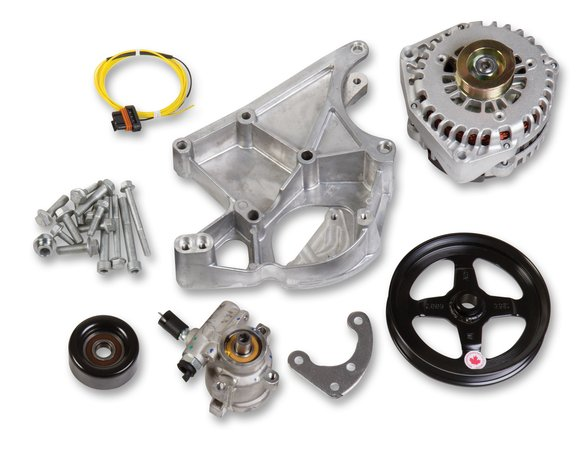 20-143 - LS Alternator & Power Steering Pump Accessory Drive Kit - Driver's Side Bracket Image