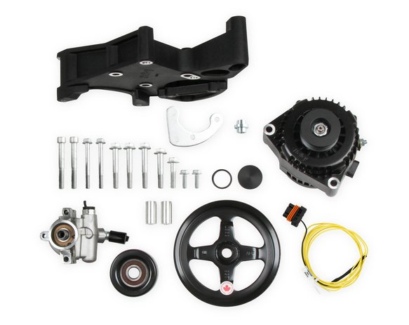 20-143BK - LS/LT Alternator & Power Steering Pump Accessory Drive Kit - Driver's Side Bracket-Black Finish Image