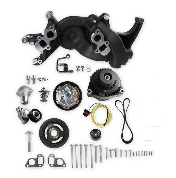 20-187BK - Holley Mid-Mount Race Accessory System- Black Finish Image