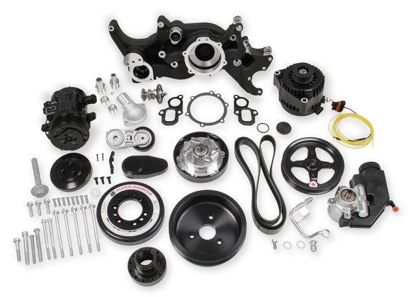 20-200BK - Holley Premium Black Mid-Mount Complete Accessory System for LT Engines Image