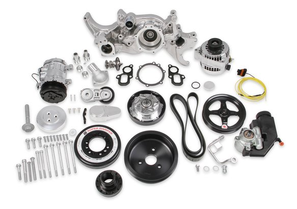 20-200P - Holley Premium Polished Mid-Mount Complete Accessory System for LT Engines Image