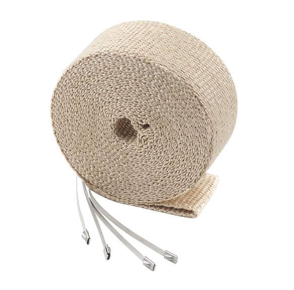2002TA - Exhaust Wrap Kit - Tan 2 in x 25 ft Roll - With (4) 14 in Stainless Steel Tie Straps Image