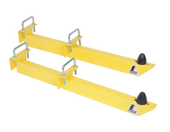 20475 - Lakewood Traction Bars - 28 in - Universal - Steel - Yellow - Hardware Included - Pair Image