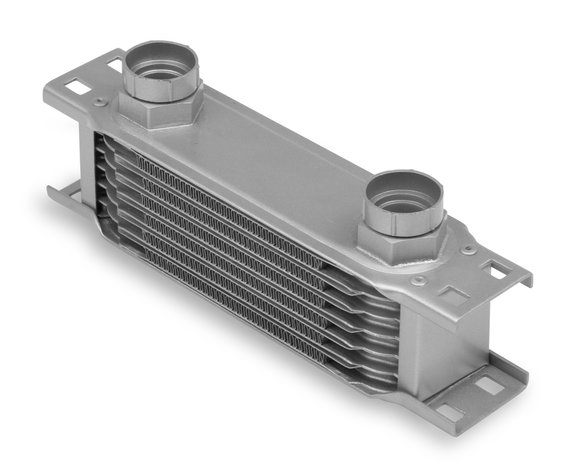 20700ERL - Earls Temp-A-Cure Oil Cooler - Grey - 7 Rows - Narrow Cooler -10 O-Ring Boss Female Ports Image