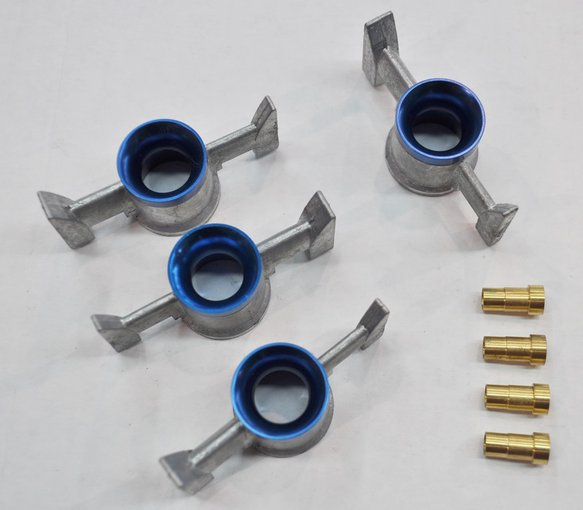 21-401AQFT - Billet Annular Booster Assembly for Alcohol with Pro Stock Step For 4500 Style - Anodized Blue Image