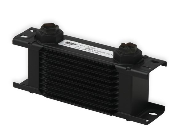210ERL - Earls UltraPro Oil Cooler - Black - 10 Rows - Narrow Cooler - 10 O-Ring Boss Female Ports Image