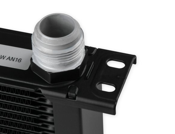 216-16ERL - Earls UltraPro Oil Cooler - Black - 16 Rows - Narrow Cooler - 16 AN Male Flare Ports - additional Image