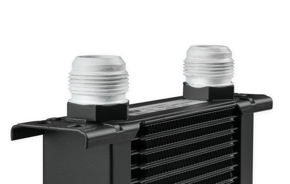 834-16ERL - Earls UltraPro Oil Cooler - Black - 34 Rows - Extra-Wide Cooler - 16 AN Male Flare Ports - additional Image