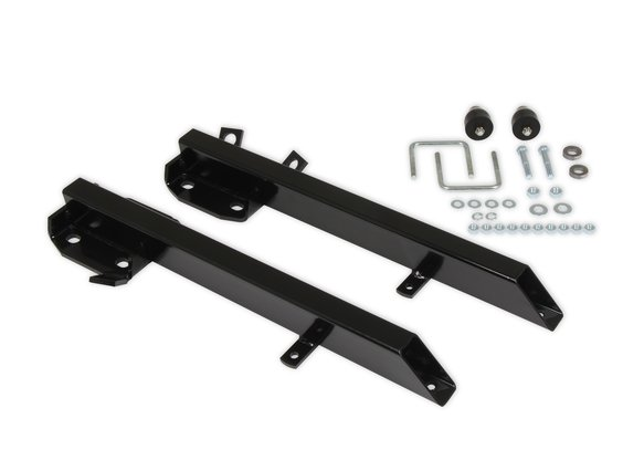 21602 - Lakewood Traction Bars - 1964-1973 Ford - 3 in Diameter - Steel - Black - Pair - Hardware Included Image