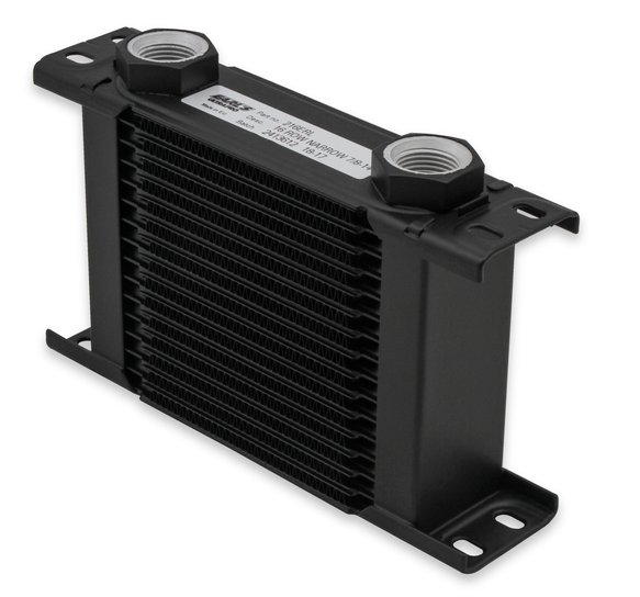 216-16ERL - Earls UltraPro Oil Cooler - Black - 16 Rows - Narrow Cooler - 16 AN Male Flare Ports Image