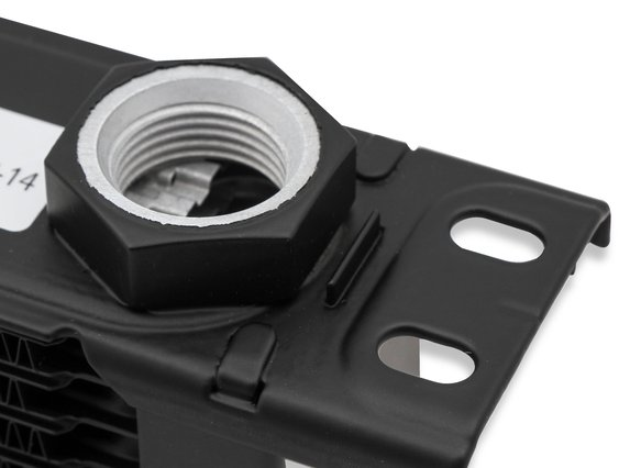 210ERL - Earls UltraPro Oil Cooler - Black - 10 Rows - Narrow Cooler - 10 O-Ring Boss Female Ports - additional Image