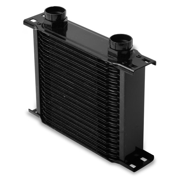 21900AERL - Earls Temp-A-Cure Oil Cooler - Black - 19 Rows - Narrow Cooler -10 O-Ring Boss Female Ports Image