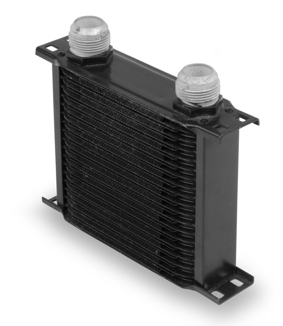 21916AERL - Earls 19 Row Oil Cooler -16 AN Black Image