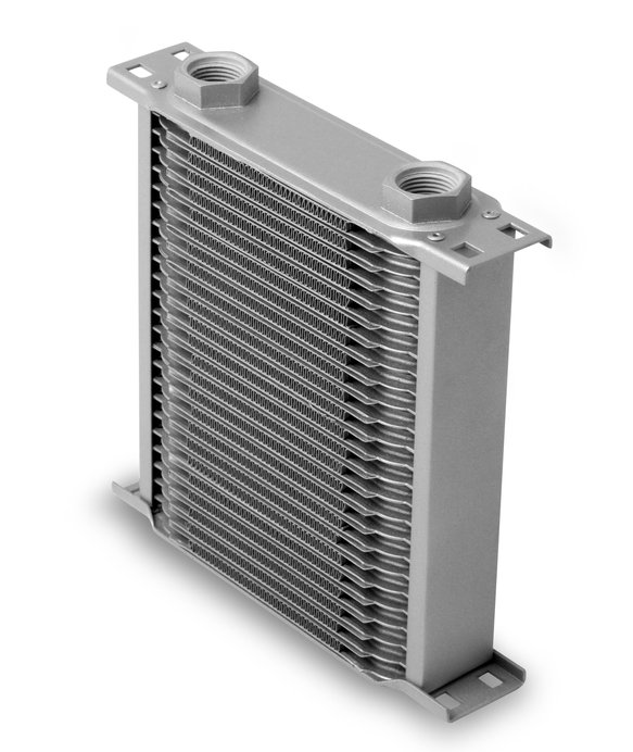 22500ERL - Earls Temp-A-Cure Oil Cooler - Grey - 25 Rows - Narrow Cooler -10 O-Ring Boss Female Ports Image