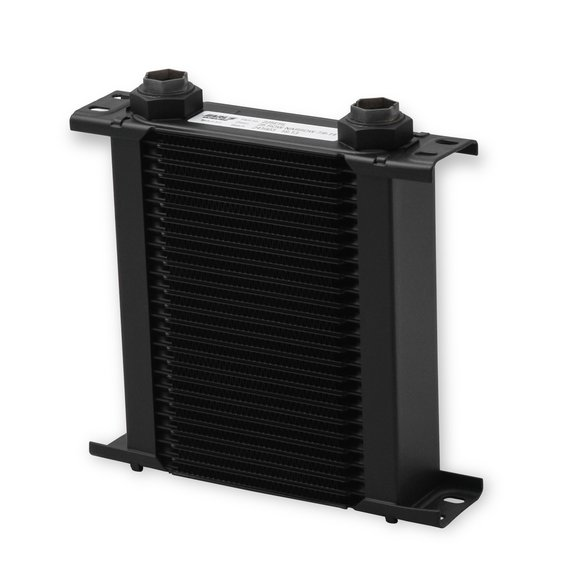 225ERL - Earls UltraPro Oil Cooler - Black - 25 Rows - Narrow Cooler - 10 O-Ring Boss Female Ports Image