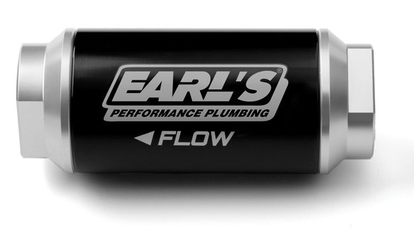230626ERL - Earls 100 GPH Billet Fuel filter - 100 micron (-6AN) Image