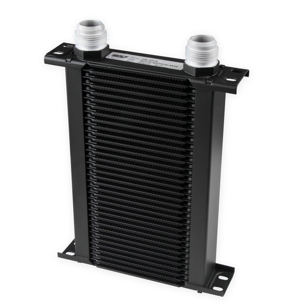 234-16ERL - Earls UltraPro Oil Cooler - Black - 34 Rows - Narrow Cooler - 16 AN Male Flare Ports Image