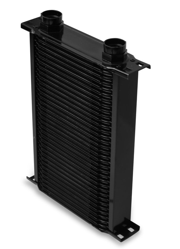 23400AERL - Earls Temp-A-Cure Oil Cooler - Black - 34 Rows - Narrow Cooler -10 O-Ring Boss Female Ports Image