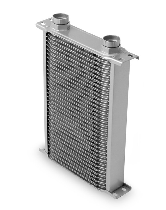 23400ERL - Earls Temp-A-Cure Oil Cooler - Grey - 34 Rows - Narrow Cooler -10 O-Ring Boss Female Ports Image