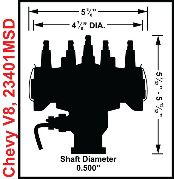 23401MSD - Chevy Crank Trigger Distributor with adjustable Cam Sync Pick-up - additional Image