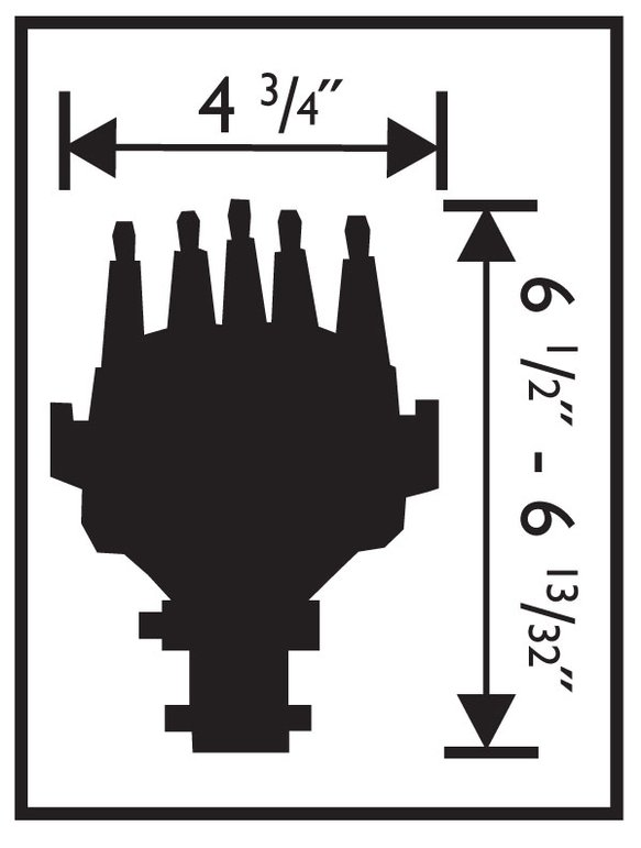 msd 2345 chevy v8 cam sync distributor  magnetic pickup