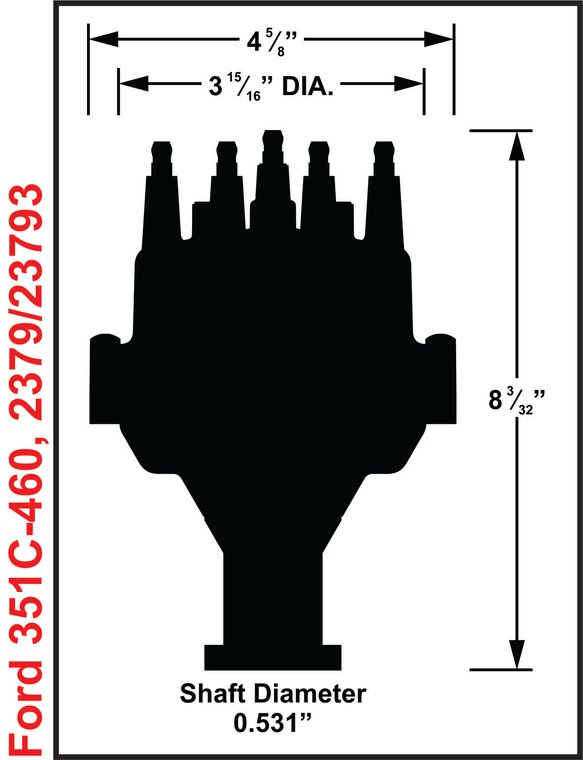 2379 - Ford 351C - 460 Dual Sync Distributor - additional Image
