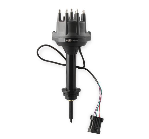 23833 - MSD Black,  Chrysler 426, 440 Dual Sync Distributor Image