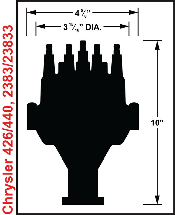 2383 - Chrysler 426, 440 Dual Sync Distributor - additional Image