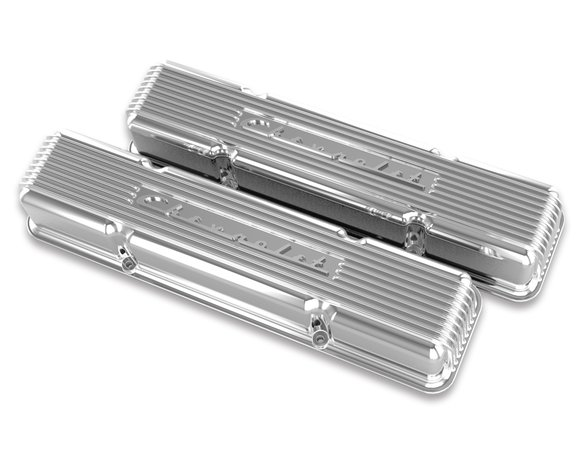 241-107 - Holley GM Licensed Vintage Series SBC Valve Covers Image