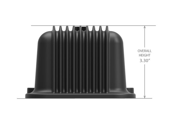 241-108 - Holley GM Licensed Vintage Series SBC Valve Covers Satin Black Machined Finish - additional Image