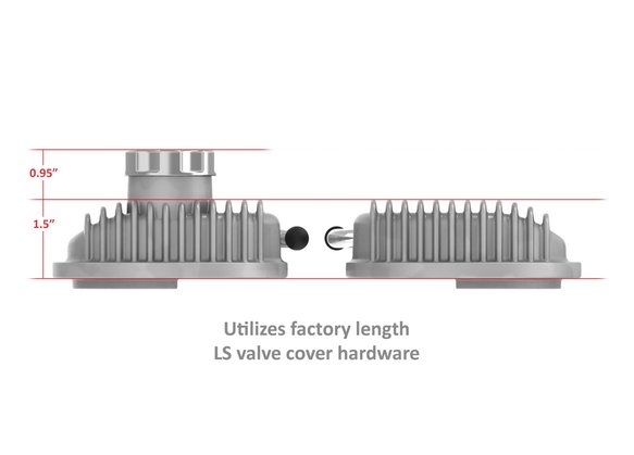 241-130 - Vintage Series Finned LS Valve Covers, Standard Height - Natural Cast - additional Image