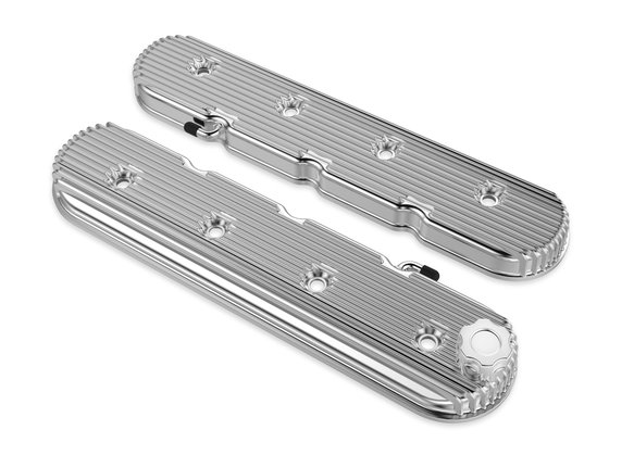 241-131 - Vintage Series Finned LS Valve Covers, Standard Height - Polished Image