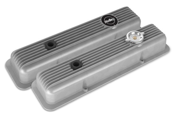241-134 - Muscle Series Valve Covers for small block Chevy engines-Natural Finish Image