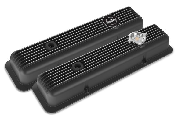 241-135 - Muscle Series Valve Covers for small block Chevy engines-Black Finish Image