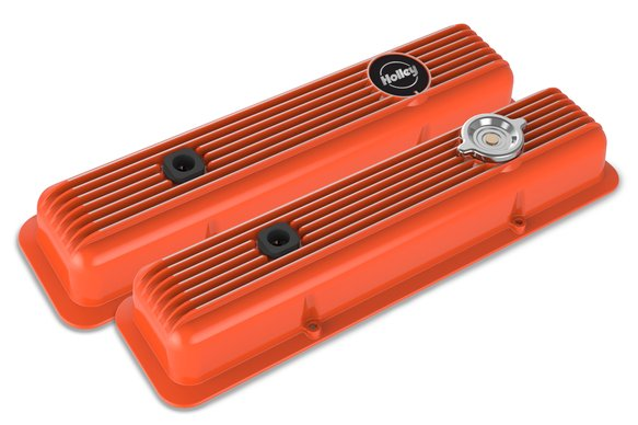241-136 - Muscle Series Valve Covers for Small Block Chevy engines - Factory Orange Image