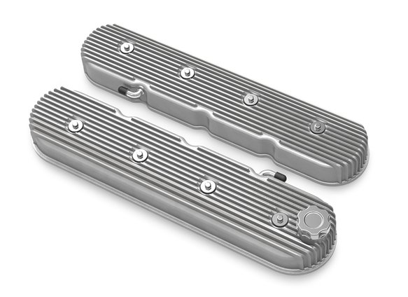 241-138 - Holley Vintage Series Tall LS Finned Valve Covers Image