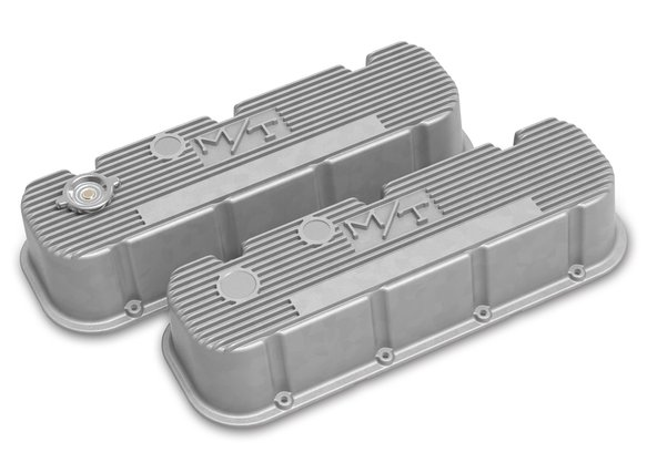 241-150 - Tall M/T Valve Covers for Big Block Chevy Engines - Natural Cast Finish Image