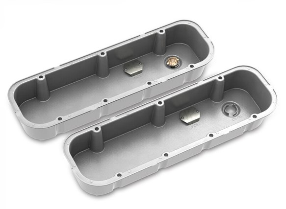 241-150 - Tall M/T Valve Covers for Big Block Chevy Engines – Natural Cast Finish - additional Image